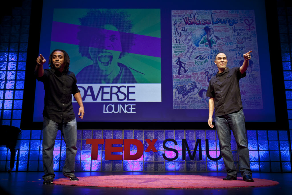 DaVerse Lounge, an under 21 spoken word interactive art experienc, performs at TEDxKids@SMU.